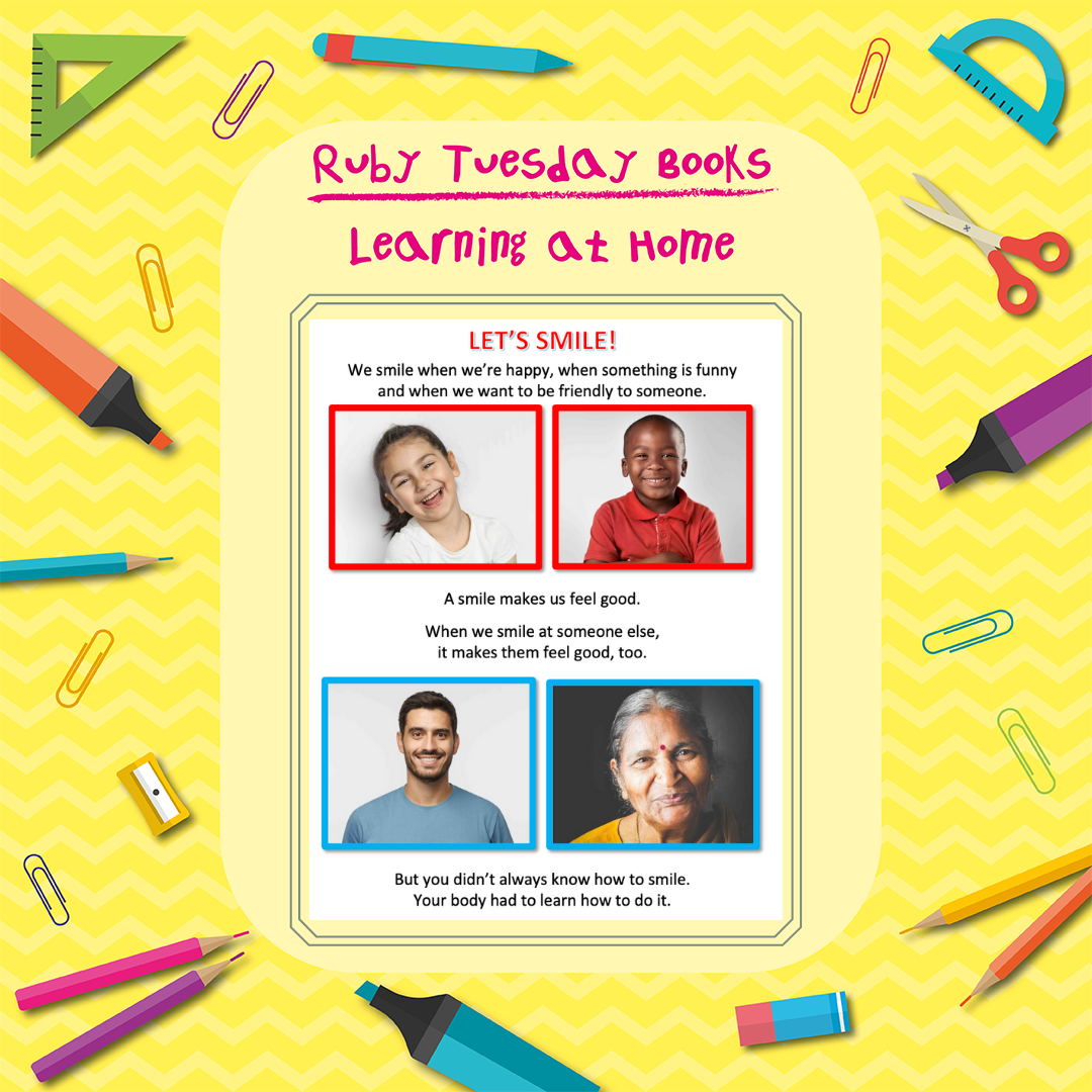 Learning at Home - Let's Smile Activity Worksheet
