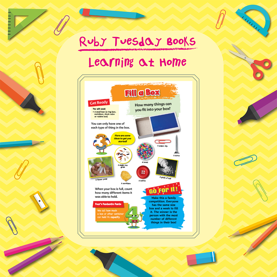 Learning at Home - Maths Activity - Fill a Box