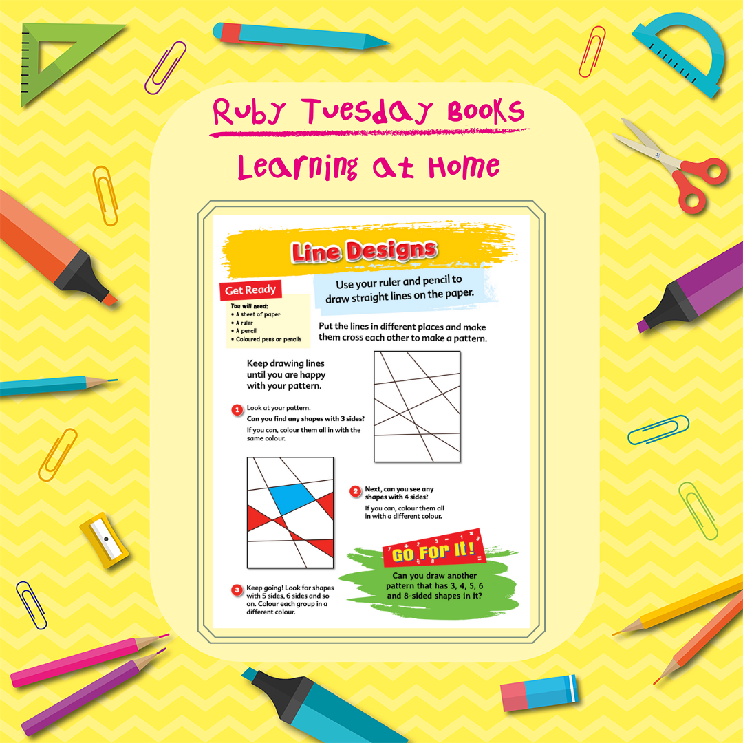 Learning at Home - Maths - Line Designs